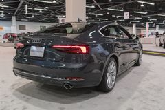 Audi S5 Sportback op vertoning Royalty-vrije Stock Foto