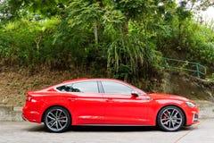 Audi S5 Sportback 2017 testów nowy Prowadnikowy dzień Fotografia Stock