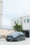 Audi S8 test drive in Hong Kong Stock Photography