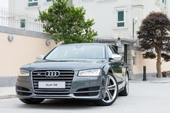 Audi S8 test drive in Hong Kong Royalty Free Stock Photography