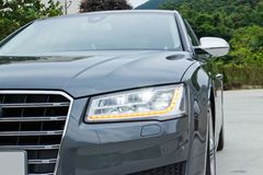Audi S8 test drive in Hong Kong Royalty Free Stock Photo