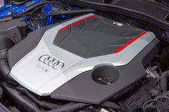 Audi S4 TFSI V6 engine Royalty Free Stock Image