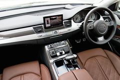 Audi S8 top grade interior Stock Photo