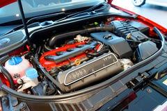 Audi S3引擎在Audi中心新加坡 库存图片