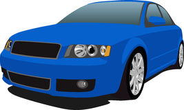 Audi S4 Blue Royalty Free Stock Image
