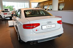 Audi S4 sedan on display at Audi Centre Singapore Stock Photography