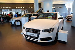 Audi S5 coupe on display at Audi Centre Singapore Royalty Free Stock Photo