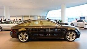 Audi S7 sportback na pokazie przy Audi Centre Singapur obraz royalty free