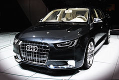 Audi at salon auto Stock Photography