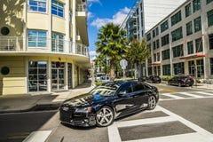 Audi samochodów Floryda Uliczny ruch drogowy obraz royalty free