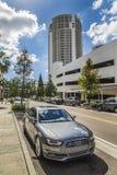 Audi samochodów Floryda Uliczny ruch drogowy obraz stock