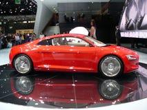 audi samochodu e elektryczny nowy tron Zdjęcie Stock