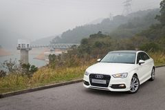 Audi A3 Sedan 2014 Model Royalty Free Stock Image