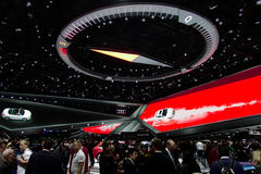 Audi showroom at the IAA Cars Royalty Free Stock Photography
