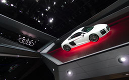 Audi showroom at the IAA Cars. 66th International Motor Show, Frankfurt, Germany. September 2015 Stock Photo