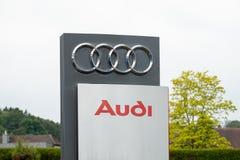Audi Sign en Embleem stock fotografie
