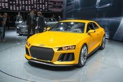 Audi Sport Quattro Concept - estreia mundial Foto de Stock Royalty Free