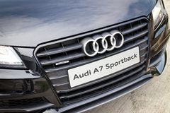 Audi A7 Sportback Black Edition 2014 Black Mask Stock Photography