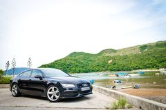 Audi A7 Sportback Black Edition 2014 Royalty Free Stock Photos