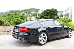 Audi A7 Sportback Black Edition 2014 Royalty Free Stock Images