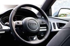 Audi A7 Sportback Black Edition 2014 Royalty Free Stock Photography