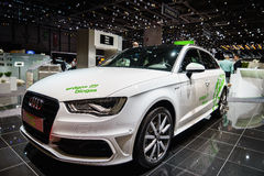 Audi A3 Sportback g-tron Erdgas / Biogas , Motor Show Geneve 2015. Stock Photography
