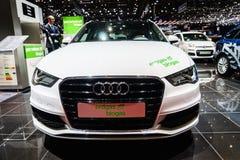 Audi A3 Sportback g-Tron Erdgas/biogaz, Salon de l'Automobile Genève 2015 Photo stock