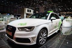 Audi A3 Sportback Tron Erdgas, Biogas/, Motorowy przedstawienie Geneve 2015 fotografia stock