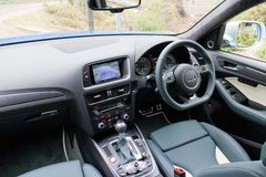 Audi SQ5 driver room Stock Photography