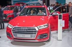Audi SQ5. Frankfurt-September 20:  Audi SQ5 at the Frankfurt International Motor Show on September 20, 2017 in Frankfurt Stock Photography
