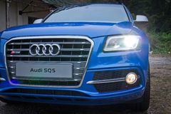 Audi SQ5 head light Royalty Free Stock Photo