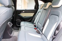 Audi SQ5 rear seat Royalty Free Stock Photography