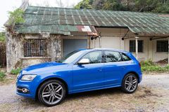 Audi SQ5 side Royalty Free Stock Image