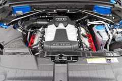 Audi SQ5 V6 engine Royalty Free Stock Image