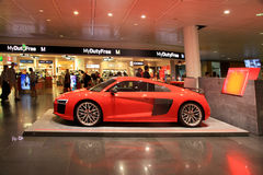 AUDI stand in Duty free area in Munich International Airport, Ge royalty free stock photo