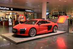 AUDI stand in Duty free area in Munich International Airport, Ge stock images