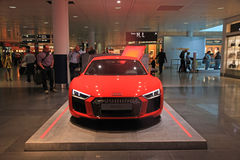 AUDI stand in Duty free area in Munich International Airport, Ge stock image