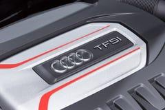 Audi TFSI car engine Stock Photos