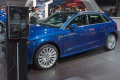 Audi A3 Tron elektryczny samochód Zdjęcia Royalty Free