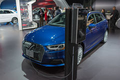 Audi A3 Tron elektryczny samochód Obrazy Royalty Free
