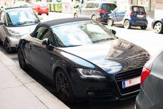 Audi TT auf der Straße Stockbild