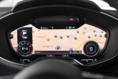 Audi TT dash Royalty Free Stock Photo