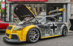 2001 Audi TT. Exposed in a street for the Montreal Grand Prix 2016 Stock Photography
