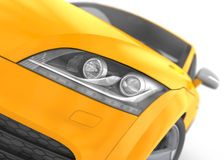 Audi TT Headlight Element Stock Photo