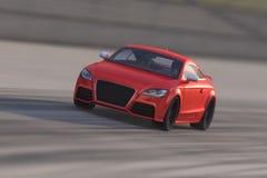 Audi TT op de speedwaybaan Royalty-vrije Stock Fotografie