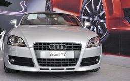 Audi TT silver sports car Royalty Free Stock Images