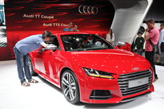 Audi TTS Coupe at Auto Mobile International fair Royalty Free Stock Images