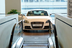 Audi TTS roadster on display at Audi Centre Singapore Stock Photos