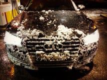 Audi versus Noorwegen stock afbeelding