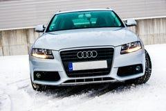 Audi W zimie fotografia stock